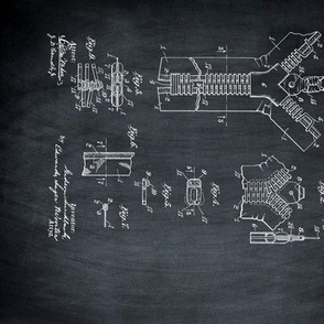 Patents on black chalkboard