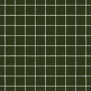 Forest Green Watercolor Windowpane by Friztin