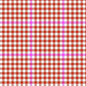 tartan check - dot red
