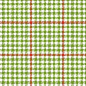 tartan check - apple red and green