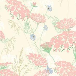 Wild Flower Meadow in Cream