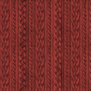 Cardinal Red Cable Knit