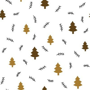 pine forest brown on white