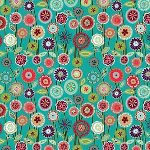 Floral Print Blue