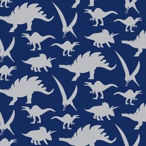 16-05g  Dinosaur  Gray Navy
