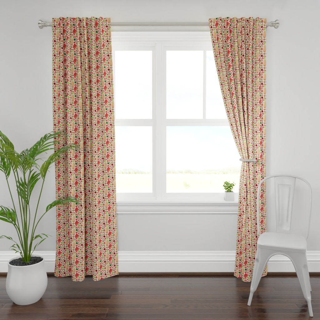 Plymouth Curtain Panel featuring Christmas Candy by kellygilleran