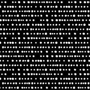 dotty stripe on black   monochrome fabric