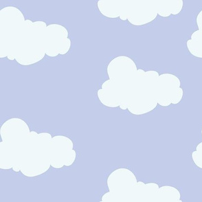 Clouds in Lavender // Repeating pattern for Wallpaper or Children's fabrics // Nursery print by Zoe Charlotte