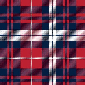 fall plaid || navy,red, and white
