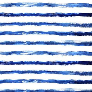 Grungy blue watercolor stripes