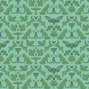 woodland damask with outlines