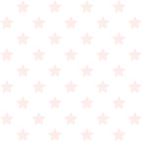 Pink Stars - White