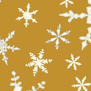 Snowflakes - Large - Ivory,  Dark Caramel