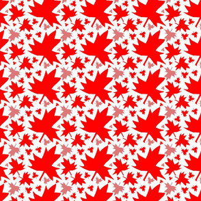 Maple Leaf (Tiled Red on White)