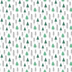 Alpine winter forest (green)