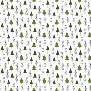 Alpine winter forest (olive)
