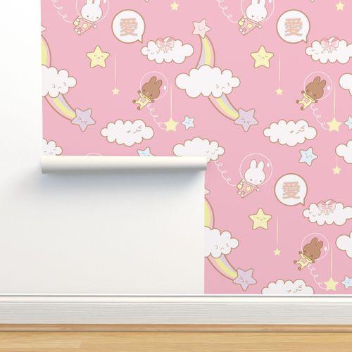 5890967 astronaut bunnies pink ver by mipinipi