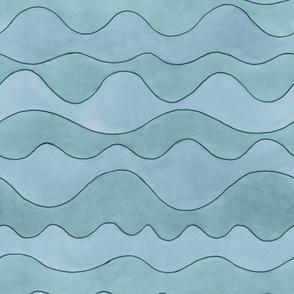 Watercolor Waves