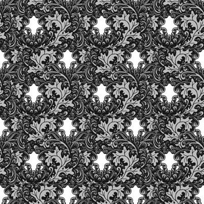 Classic paisley grayscale