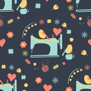 Love sewing (grey backround)