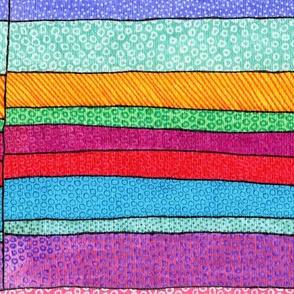 giant rainbow stripes