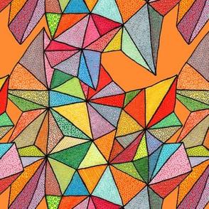 triangles on orange