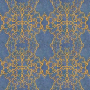 Project 157 | Gold Filigree | Slate Blue