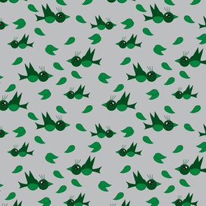 Birds and leafs