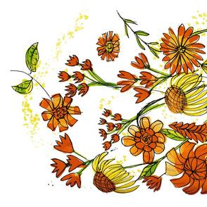 Orange Fantasy Flower Garden