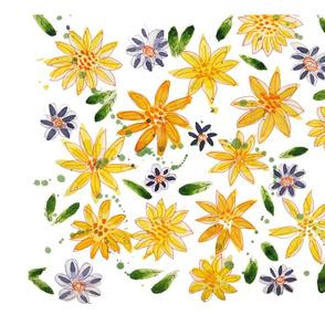 Yellow & Blue Flowers