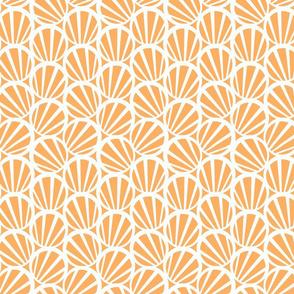 circles and stripes peach