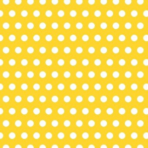 Garden Party - Canary Yellow Polka Dots