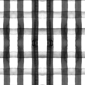 gingham watercolor monochrome