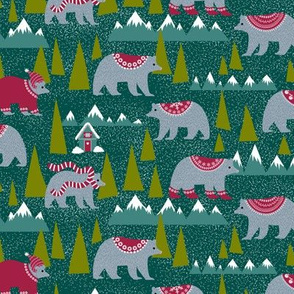 Bears and a chalet