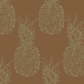 large pineapple grey on brown