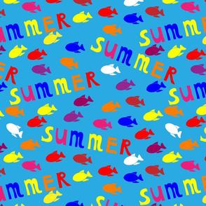Summer sea pattern