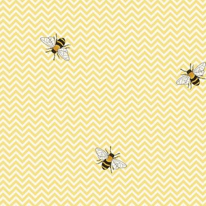 Bees on yellow chevron