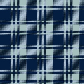 fall plaid    dusty blue and navy - happy camper wholecloth coordinate fabric