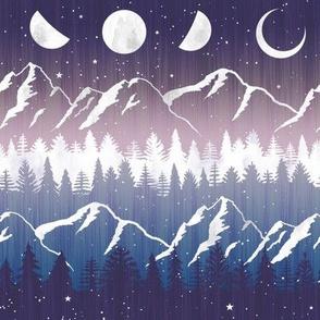 Chalet View Stripe - Midnight