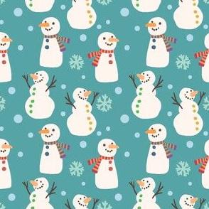 Cute Winter Holiday Snowmen