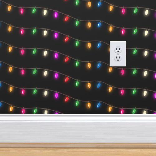 Christmas String Lights - Spoonflower
