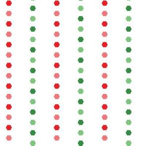 Holiday Hexies Multi Stripe