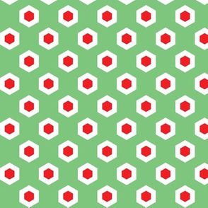 Holiday Hexies Mint & Red