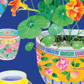 Peranakan and nasturtiums
