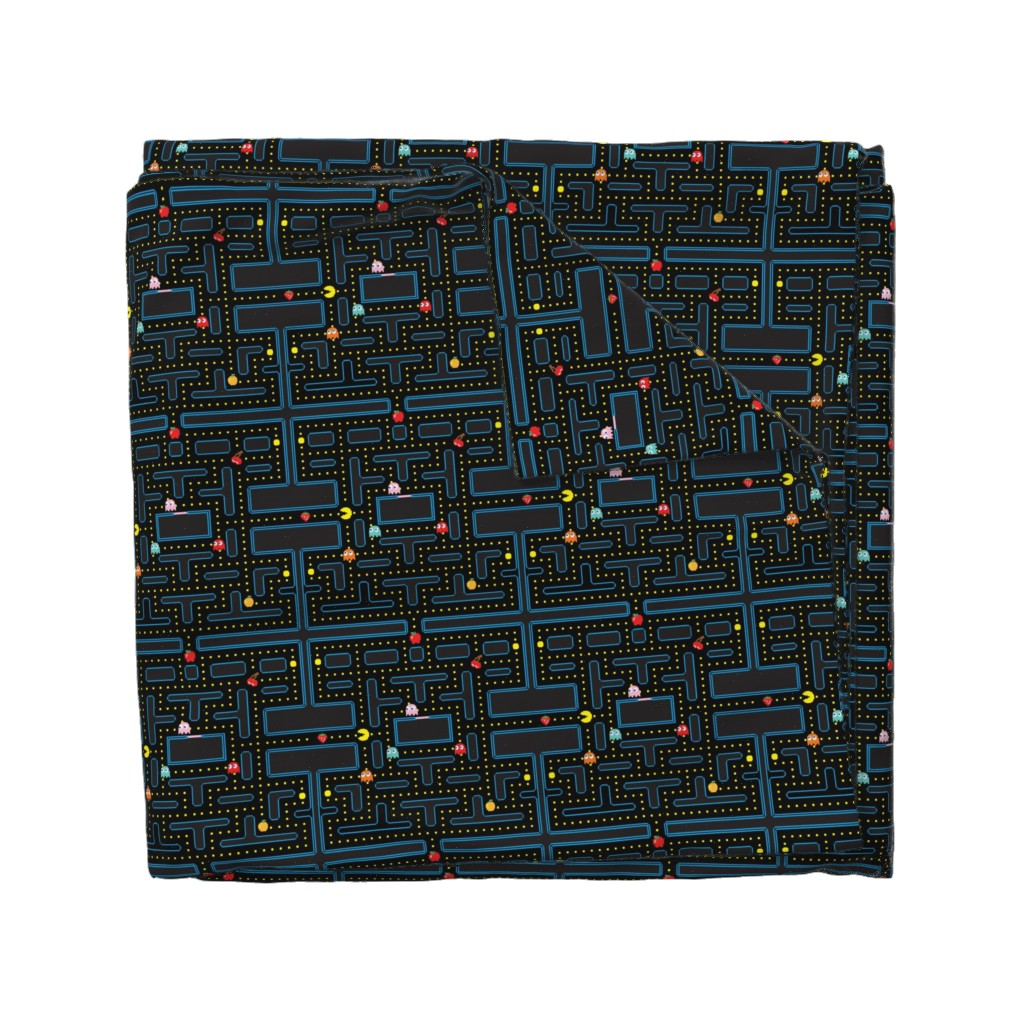 Wyandotte Duvet Cover featuring Pacman Retro Video Game Pattern by furbuddy