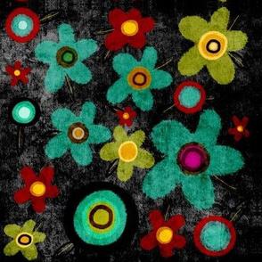 Black garden fabric