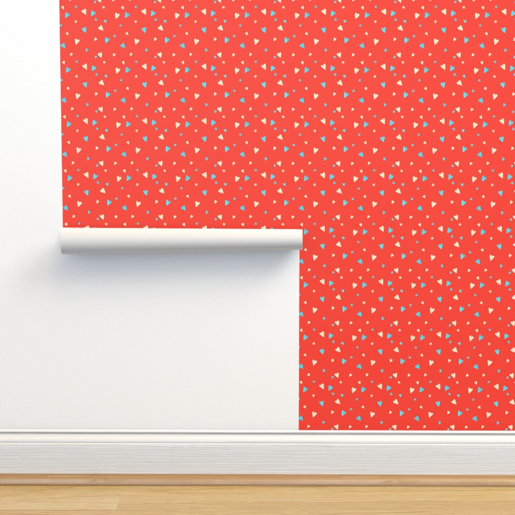 Isobar Durable Wallpaper featuring Day Of The Dead Scatter Hearts by imagineattic