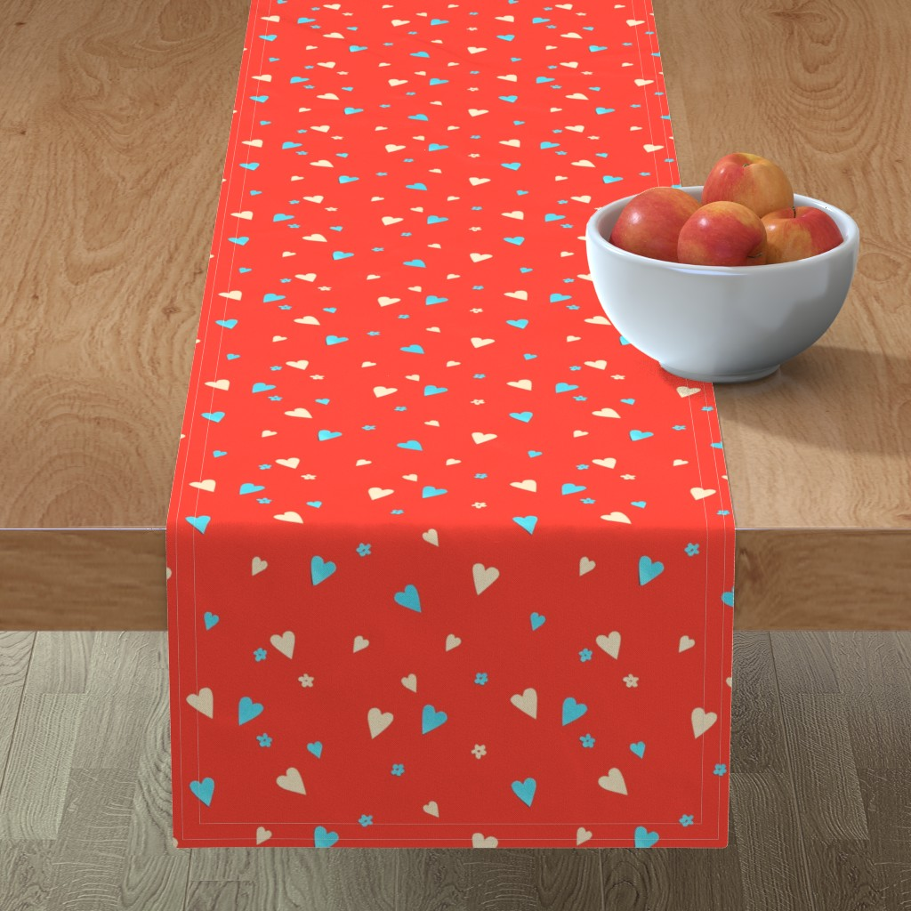 Minorca Table Runner featuring Day Of The Dead Scatter Hearts by imagineattic