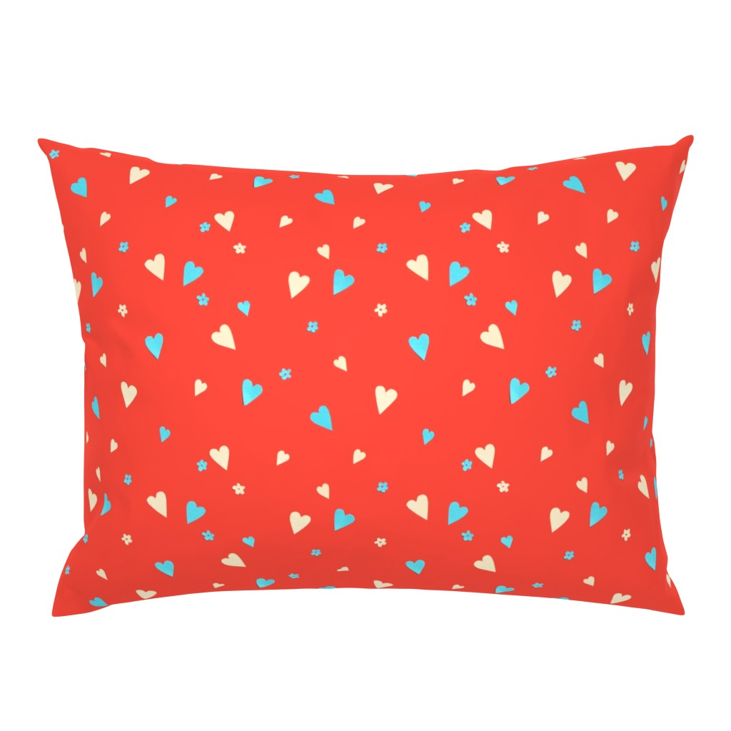 Campine Pillow Sham featuring Day Of The Dead Scatter Hearts by imagineattic