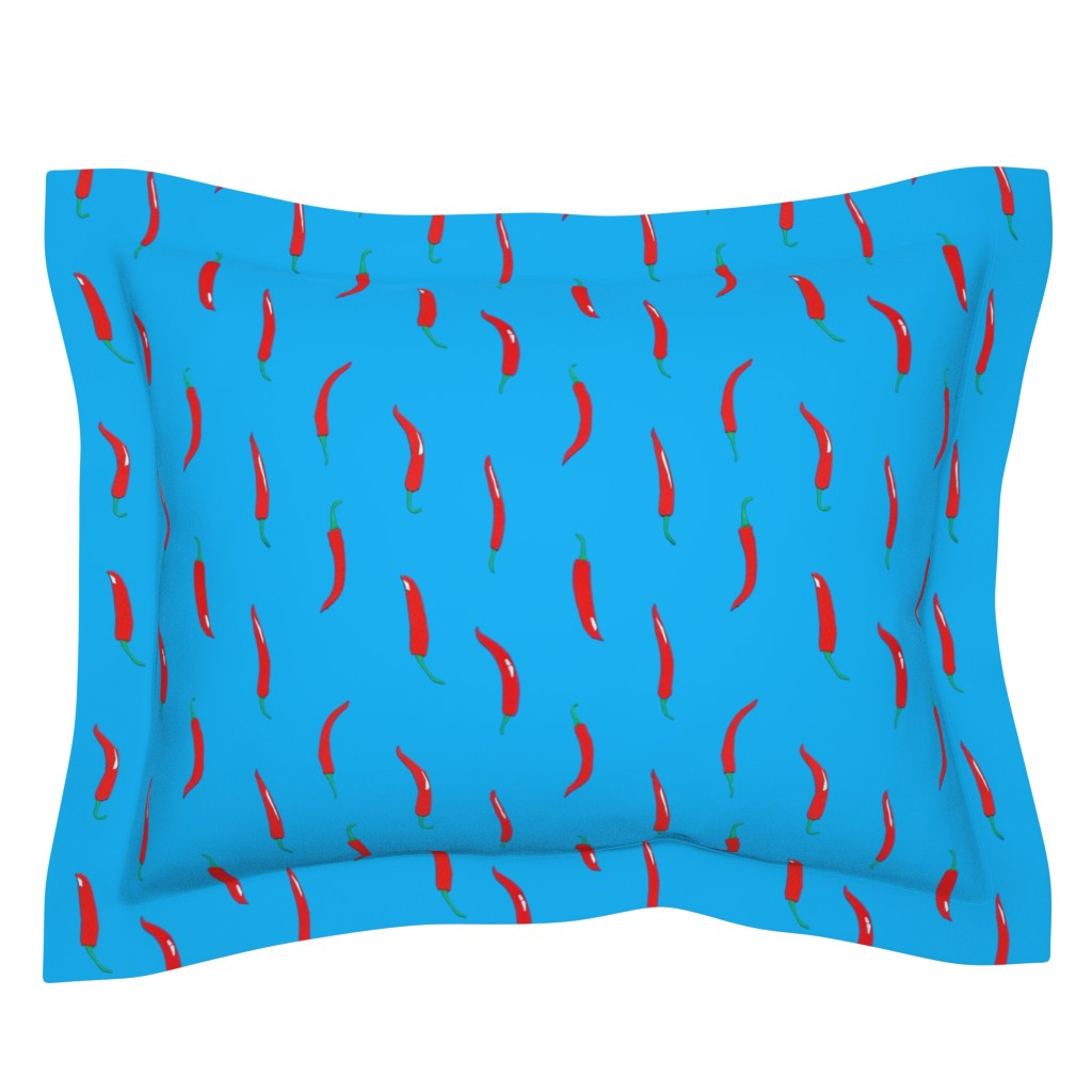 Sebright Pillow Sham featuring Mexican Chillies by imagineattic